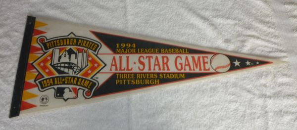 1994 MLB All-Star game, full-size pennant, Pittsburgh, PA