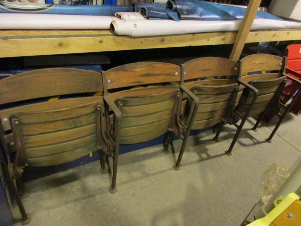 Forbes Field seats - connected set of 4