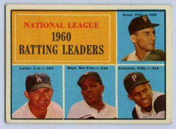 26. 1961 TOPPS BASEBALL CARD #41 - CLEMENTE