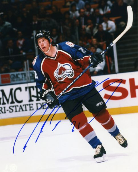 Peter Forsberg - Colorado Avalanche signed 8x10 photo