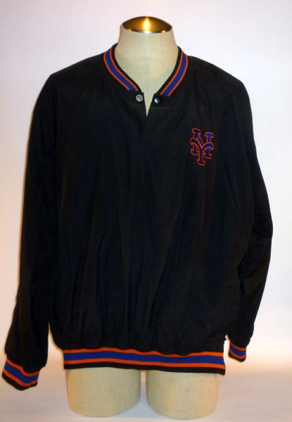 New York Mets game used pullover, #34 Size XL