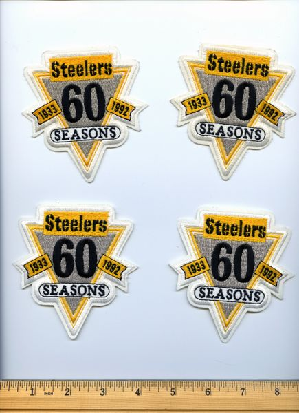 (4) Pittsburgh Steelers 60th season jersey patches