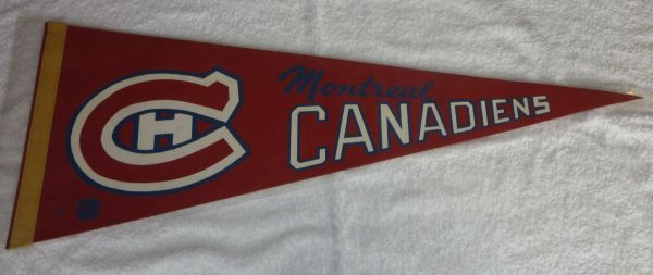 1960's - 70's Montreal Canadiens full-size pennant