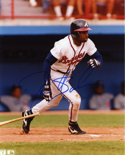 Deion Sanders - Atlanta Braves signed 8x10 photo