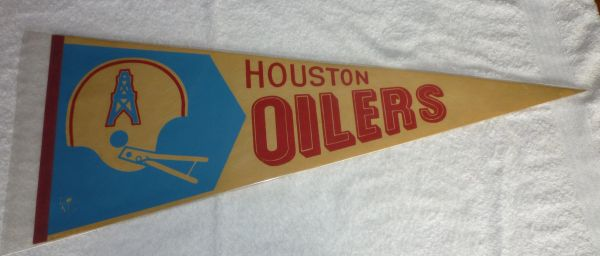 1970's Houston Oilers full-size pennant