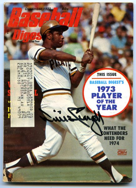 Willie Stargell, Pittsburgh Pirates signed 1973 Baseball Digest