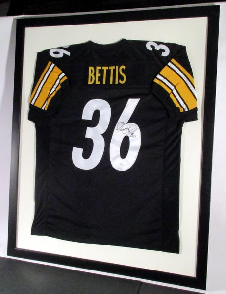 best sneakers df81d 10a17 Jerome Bettis - Pittsburgh Steelers, signed framed jersey