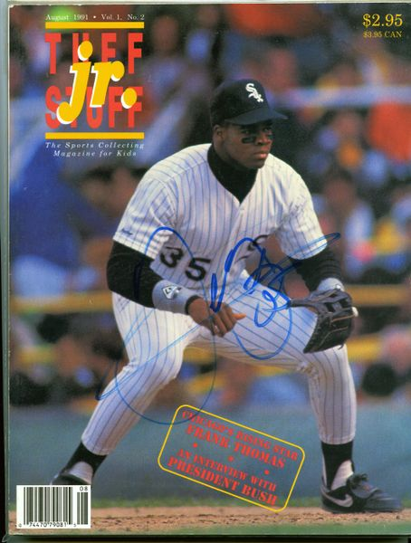 Frank Thomas, Chicago White Sox signed magazine