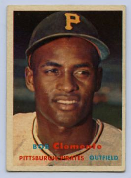 51. 1957 ROBERTO CLEMENTE TOPPS BASEBALL CARD #76