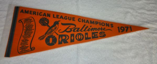 1971 Baltimore Orioles full-size pennant