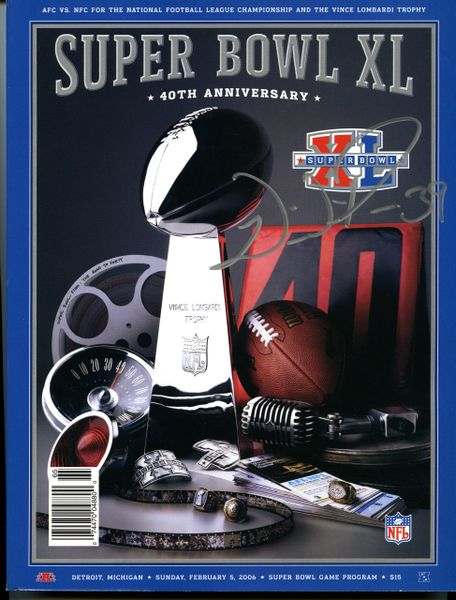 Willie Parker, Pittsburgh Steelers signed Super Bowl XL program
