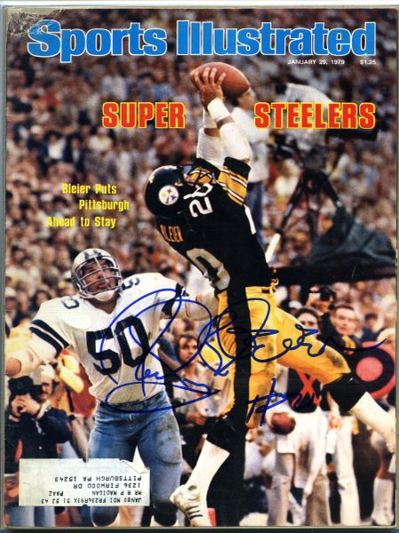 Rocky Bleier, Pittsburgh Steelers signed Sports Illustrated