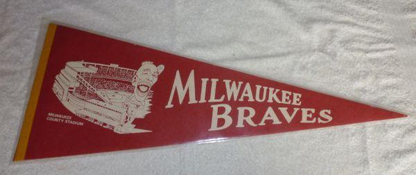 1960's Milwaukee Braves full-size pennant
