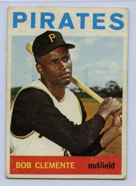 63. 1964 ROBERTO CLEMENTE TOPPS BASEBALL CARD #440