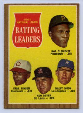 37. 1962 TOPPS BASEBALL CARD #52 - CLEMENTE