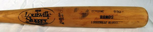 Barry Bonds Pirates, Giants game used Rookie or 2nd yr bat, cracked
