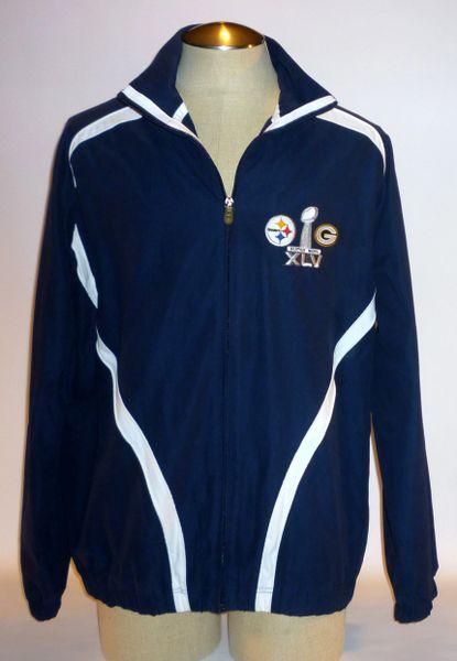 Super Bowl XLV jacket, Steelers vs. Packers, Size L