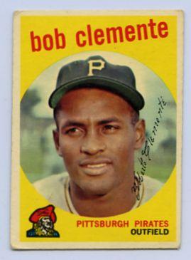 54. 1959 ROBERTO CLEMENTE TOPPS BASEBALL CARD #478