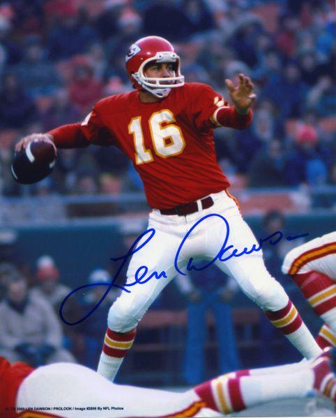 Len Dawson - Kansas City Chiefs signed 8x10 photo