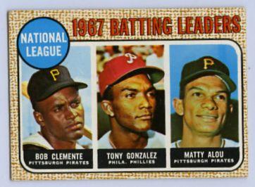 31. 1968 TOPPS BASEBALL CARD #1 - CLEMENTE