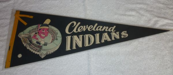 1960's Cleveland Indians full-size pennant