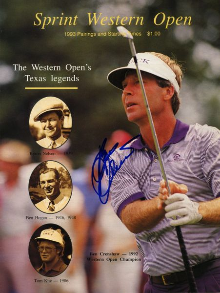 Ben Crenshaw Pro Golfer signed Western Open program (cover only)