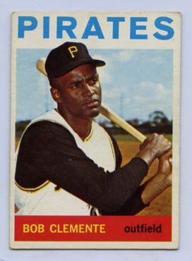 64. 1964 ROBERTO CLEMENTE TOPPS BASEBALL CARD #440