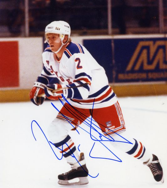 Brian Leetch - New York Rangers signed 8x10 photo