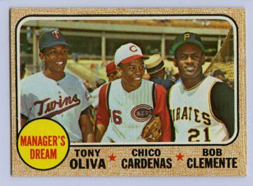 19. 1968 TOPPS BASEBALL CARD #480 - CLEMENTE
