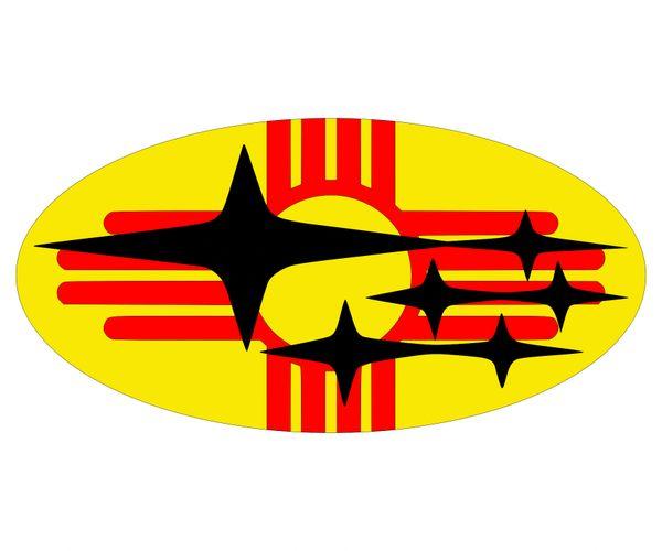 New Mexico Flag Subaru Emblem Overlay Set Wrx Sti Legacy