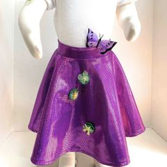 Purple Hologram Ballet Skirt with Necklace
