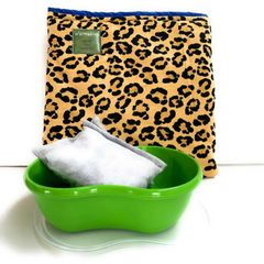 Large Food Warming Sleeve, leopard