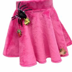Snapables Ballet Skirt with Necklace in hot pink Minky