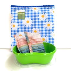 Food Warming Sleeve large, blue daisy