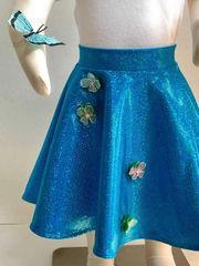 Turquoise Hologram Ballet Skirt with Necklace