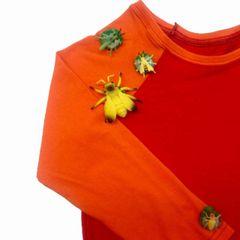 Snapables Short Sleeve Raglan Shirt red/ orange