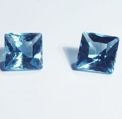 RB1-4003; Aquamarine, Madagascar, Unheated, pair