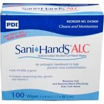 Sani-DEX ALC Handwipes Individual Packets