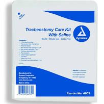 Trach Kit W/Saline, Sterile