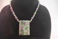 Ruby and Zoisite Necklace