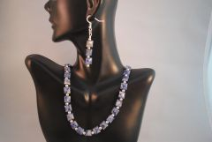 Sodalite Necklace and Earrings