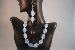 Sri Lanka Moonstone Necklace and Earrings