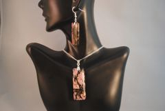Rhodonite Pendant and Earrings