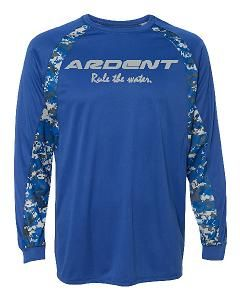 Ardent Rule the Water Digital Camo Colorblock Performance Long Sleeve