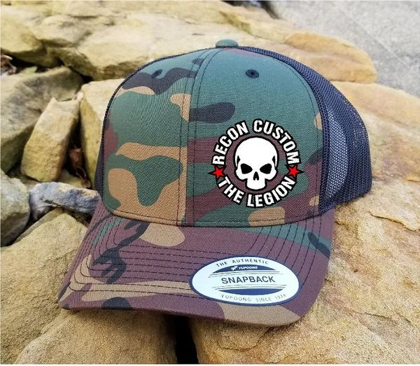"Recon Custom ""The Legion"" Camo Mesh Back Snap Back Hat"