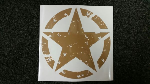 Distressed Military Star
