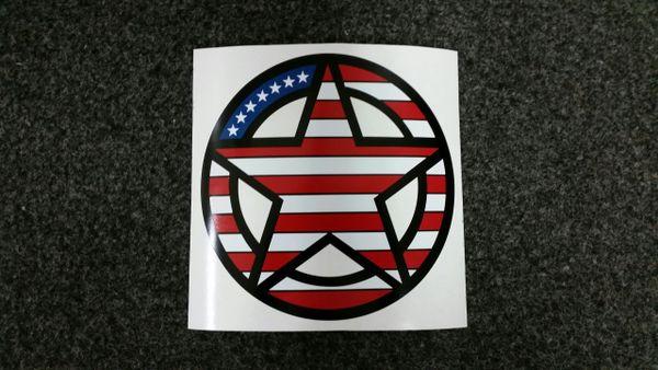 freedom star black background