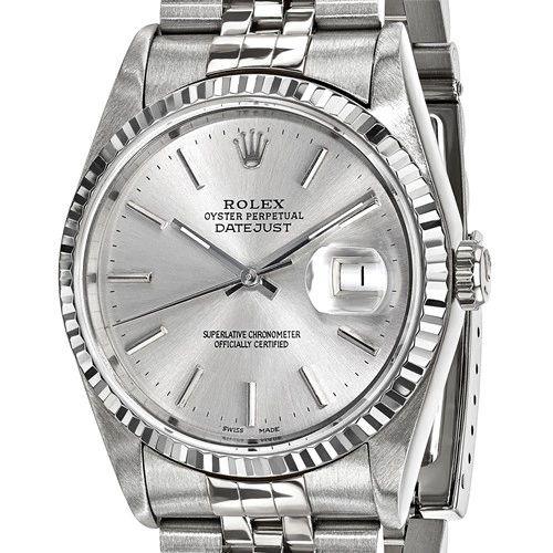 Certified Pre-Owned Rolex Steel/18kw Bezel, Mens Silver Dial Watch
