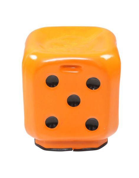 Dice Stool in Orange (set of 4)