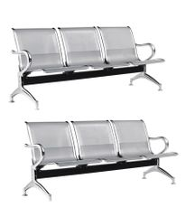MBTC Three Seater Waiting Chair Set of 2